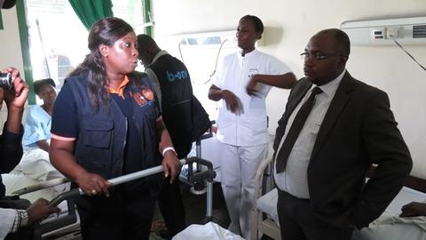 S.E Ministre de la Santé et Mme la Représentante de l'UNFPA en visite à l'Hôpital Mutombo