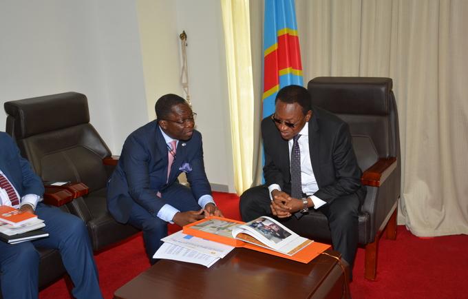 Le Représentant Résident de UNFPA reçu par le Premier Ministre de la RDC.