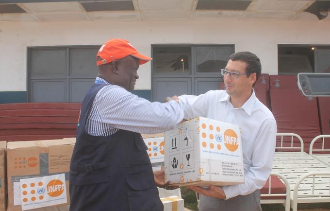 Remise des produits de santé de UNFPA à PERENCO, en faveur des ZS Kitona et Muanda