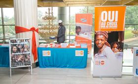Le stand UNFPA  lors de la JMP